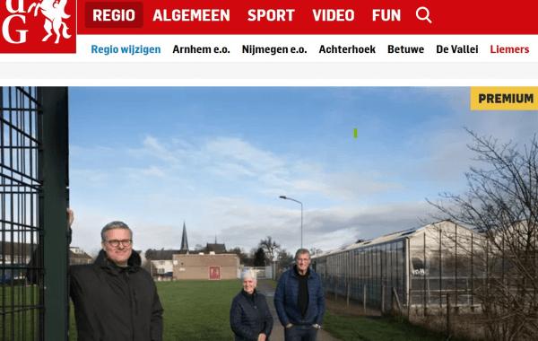 Gelderlander artikel nieuwbouw Groessen
